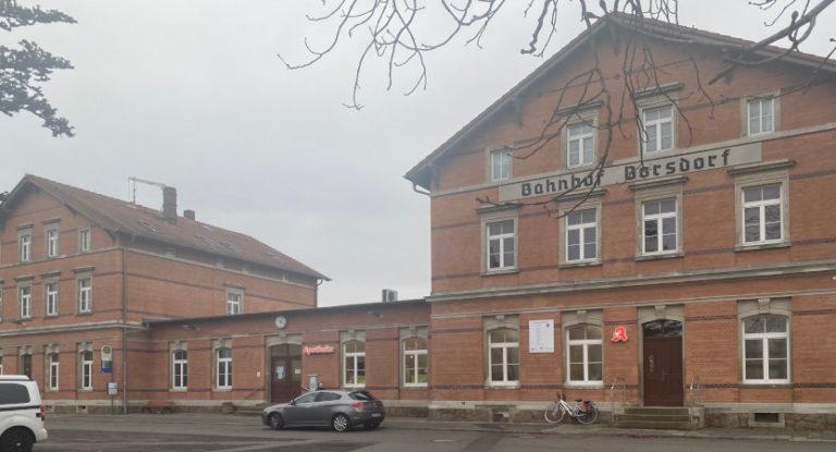 Zwischenstand der Bauarbeiten im Bahnhof