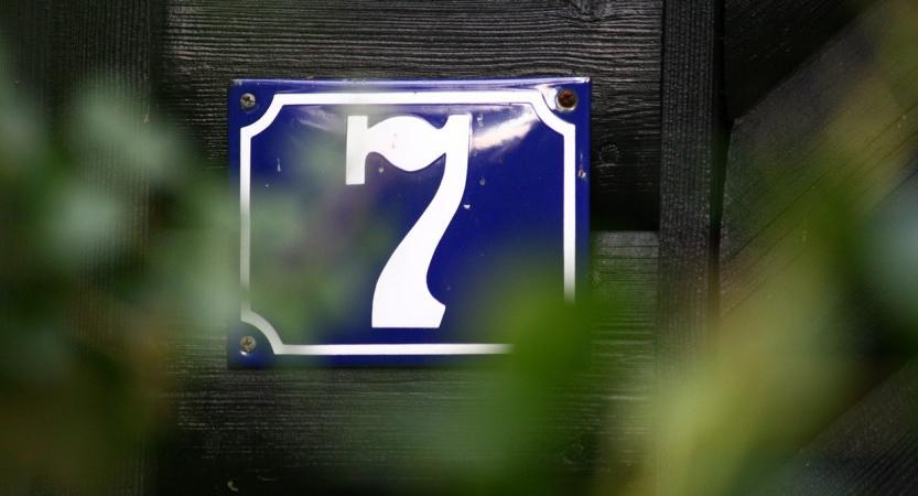 Hausnummer sollte immer gut zu sehen sein