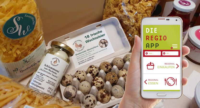 Regionalprodukte aus dem Leipziger Muldenland per App