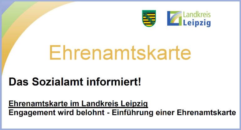 Das Sozialamt informiert: Ehrenamtskarte im Landkreis Leipzig
