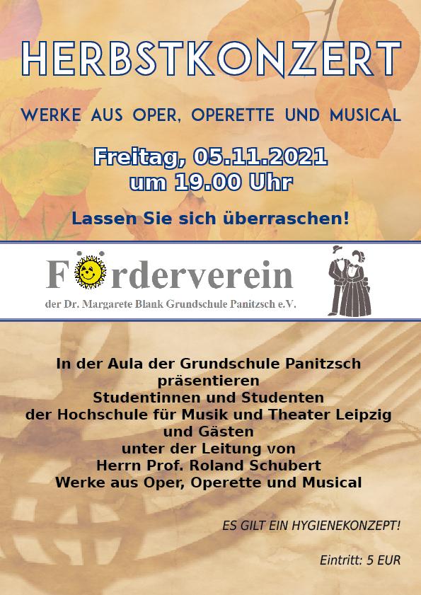 Herbstkonzert - Werke aus Oper, Operette und Musial @ Grundschule Borsdorf